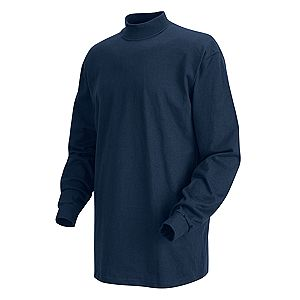 Men 39 s long sleeve mock turtleneck shirt working class for Mens mock turtleneck shirts