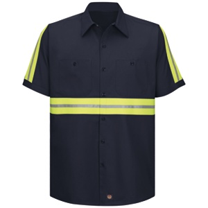 Enhanced Visibility Cotton Work Shirt Working Class Clothes