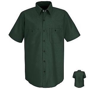 Men 39 S Wrinkle Resistant Short Sleeve Work Shirt Working