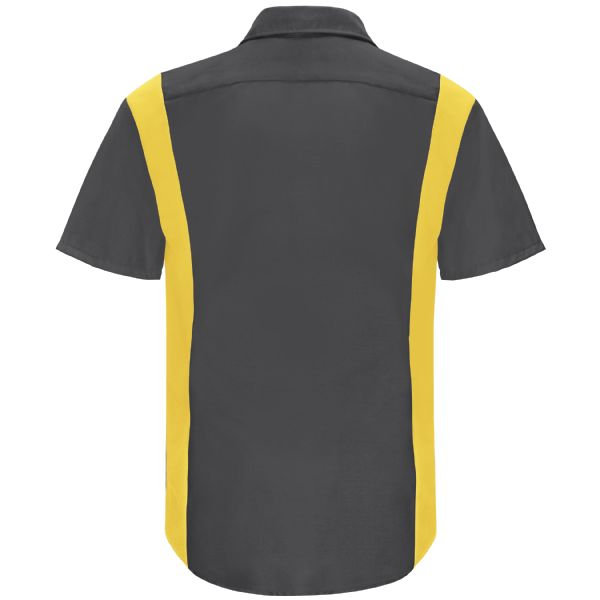 Charcoal / Yellow Mesh - Back