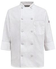 Women's Ten Pearl Button Chef Coat