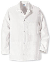Red Kap Gripper Front Short Butcher Coat with Pockets