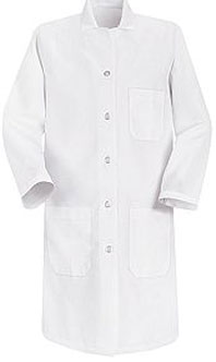 Red Kap Women's Button Closure Lab Coat