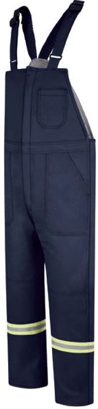 Bulwark Deluxe Insulated Comfort Touch Bib Overall W/Reflective Trim
