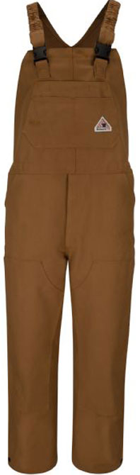 Bulwark Flame Resistant Brown Duck Unlined Bib Overall
