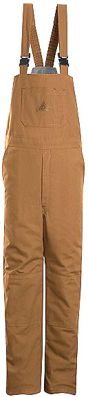 Bulwark Flame Resistant Excel-FR™ ComforTouch™Brown Duck Deluxe Insulated Bib Overall