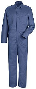 Red Kap Snap Front Cotton Coverall
