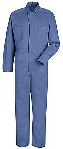 Red Kap Button Front Action Back Cotton Coverall