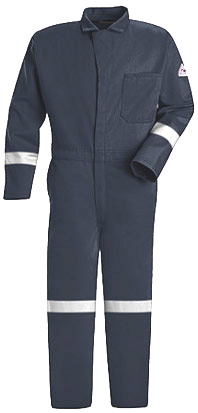 Bulwark Flame Resistant Excel-FR™ Contractor Coverall with Reflective Trim