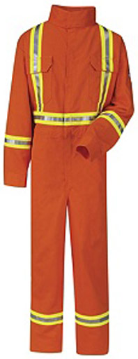 Bulwark Flame Resistant ComforTouch® Premium Coverall W/ Reflective Trim