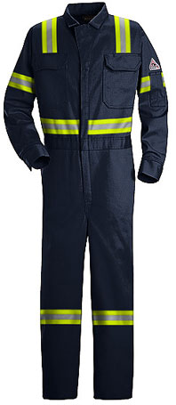 Bulwark Flame Resistant ComforTouch™ 7oz. Deluxe Coverall w/ Reflective Trim