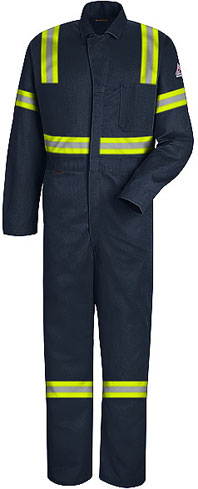 Bulwark NOMEX® IIIA Flame Resistant Contractor Coverall with Reflective Trim