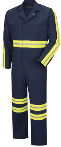 Red Kap Enhanced Visibility Action Back Twill Coverall