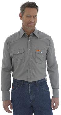 Wrangler® FR Flame Resistant Charcoal Western Shirt