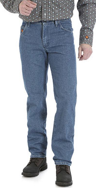 Wrangler® Flame Resistant True Blue Relaxed Fit Jean