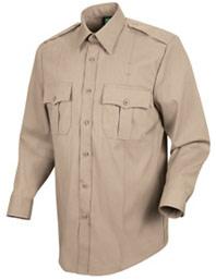 Women's New Dimension® Poplin Long Sleeve Uniform Shirt