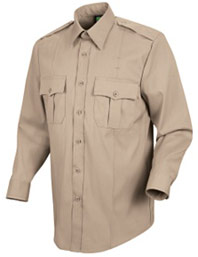 Men's New Dimension® Poplin Uniform Long Sleeve Shirt