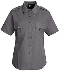 Women's New Dimension® Poplin Short Sleeve Uniform Shirt