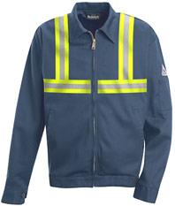 Bulwark EXCEL-FR™ Flame ResistantZip-in / Zip Out Jacket w/ Reflective Trim