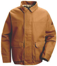 Bulwark EXCEL-FR™ ComforTouch™Flame Resistant Brown Duck Lined Bomber Jacket