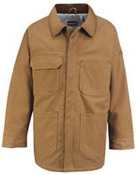 Bulwark Excel-FR™ Flame Resistant ComforTouch™ Brown Duck Lineman's Coat