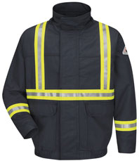 Bulwark EXCEL FR® ComforTouch® Lined Bomber Jacket with Reflective Trim