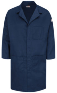 Bulwark Flame Resistant Concealed Snap Front Lab Coat