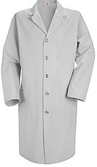 Red Kap Men's Button Front Lab Coat