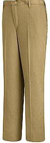 Women's Plain Front Cotton Pant