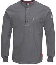 Bulwark FR iQ Series Plus Long Sleeve Henley