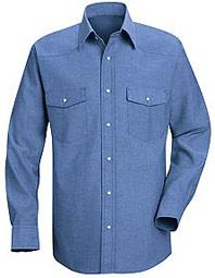 Red Kap Men's Western Style Shirt