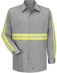 Red Kap Enhanced Visibility Cotton Work Shirt