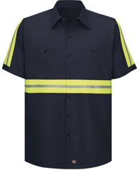 Red Kap Enhanced Visibility Cotton Work Shirt