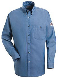 Bulwark Flame Resistant Excel-FR™ Button Front Denim Dress Uniform Shirt