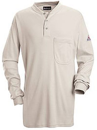 Bulwark Flame Resistant Excel-FR™ Long Sleeve Tagless Henley Shirt