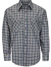 Bulwark Flame Resistant Excel ComforTouch Plaid Uniform Shirt