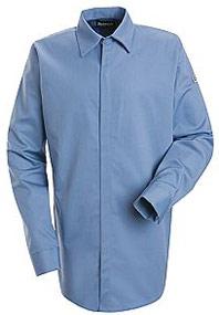 Bulwark Flame Resistant Excel-FR™ ComforTouch™ Concealed Gripper Pocketless Shirt
