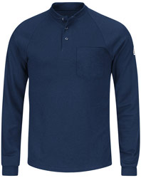 Bulwark Flame Resistant Cool Touch®2 Long Sleeve Henley Shirt