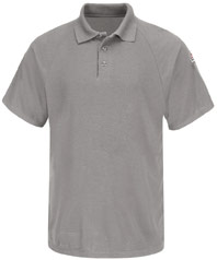 Flame resistant classic short sleeve polo shirt working for Bulwark flame resistant shirts