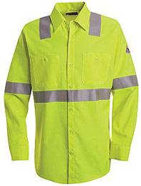 Bulwark Hi-Visibility Flame Resistant Long Sleeve Work Shirt