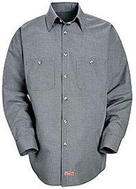 Red Kap Men's Micro-Check Long Sleeve Uniform Shirt