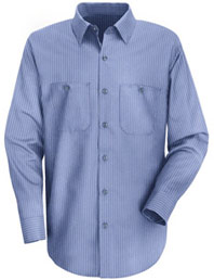 Red Kap Men's Durastripe® Long Sleeve Work Shirt