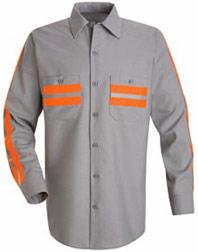 Red Kap Long Sleeve Enhanced Visibility Shirt