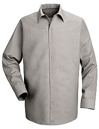 Red Kap Men's Specialized Pocketless Long Sleeve Shirt