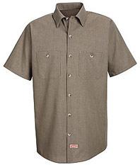 Geometric Micro-Check Work Shirt
