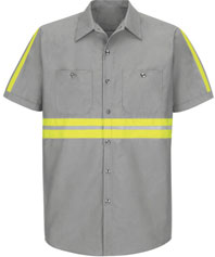 Red Kap Enhanced Visibility Industrial Work Shirt