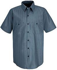 Red Kap Durastripe® Short Sleeve Work Shirt