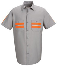 Red Kap Men's Enhanced Visibility Shirt