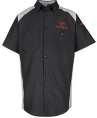 Toyota Short Sleeve Unisex Industrial Work Shirt