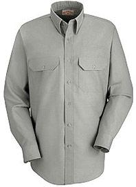 Red Kap Men's Long Sleeve Dress Uniform Shirt